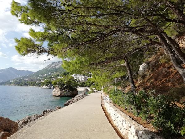Promenade in Brela Punta Rata