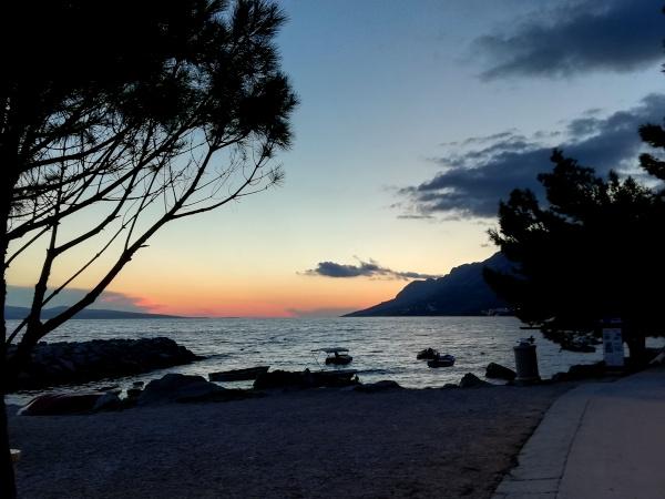 Sonnenuntergang Brela Roadtrip Kroatien
