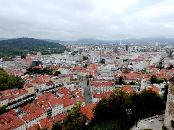 Ljubljana Blick von der Burg
