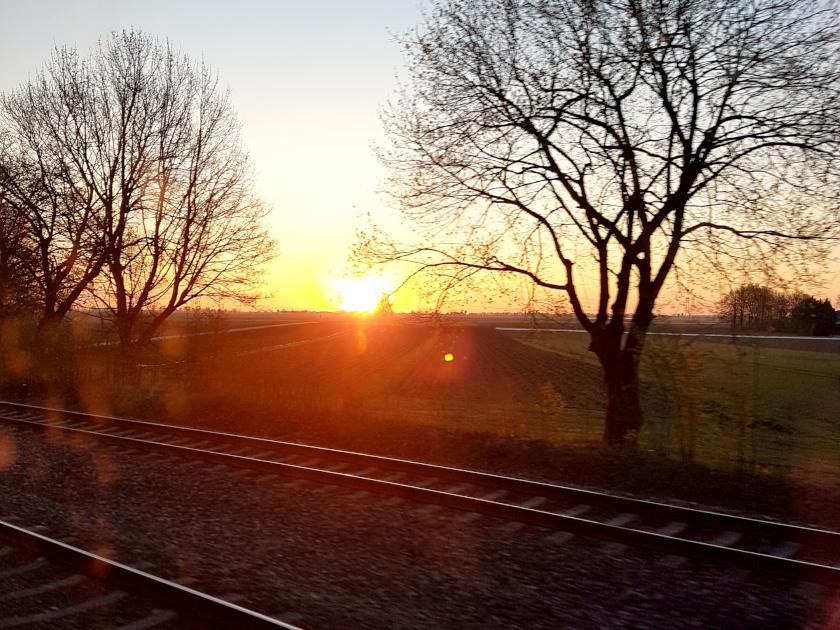 Schienen Sonnenaufgang