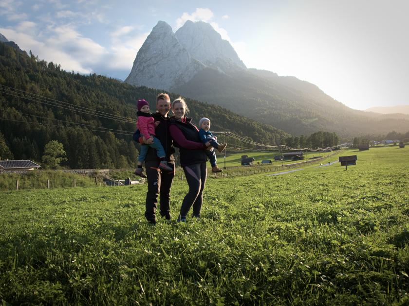 Nordlicht-Familie-Familienbild