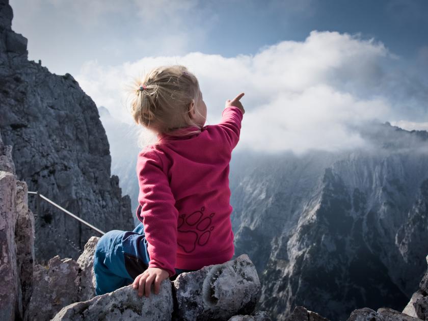 Die Nordlicht Familie Zugspitze mit Kindern