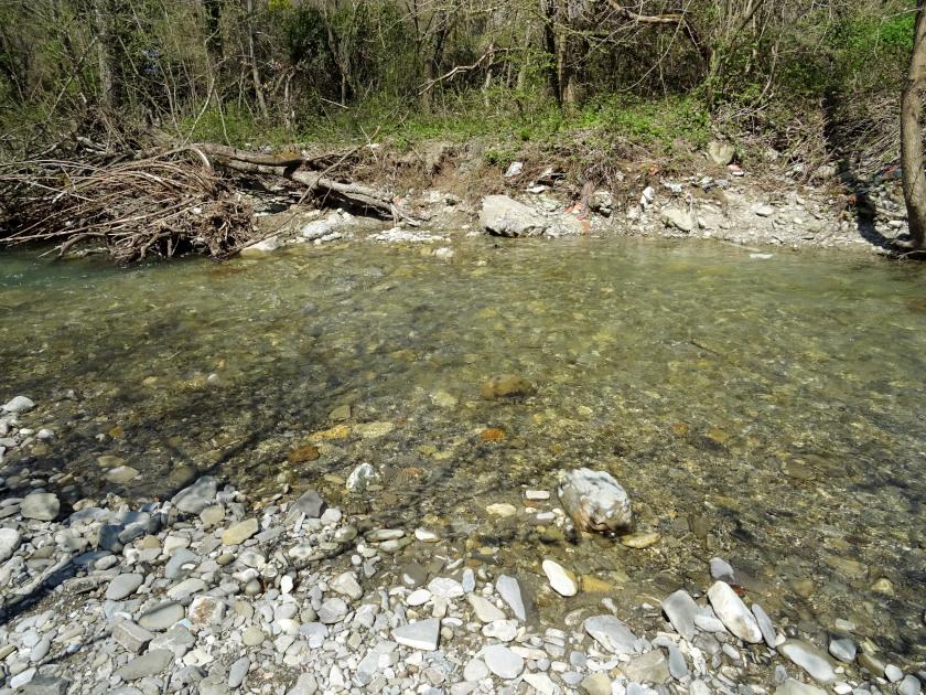 Flussdurchquerung-Franziskusweg