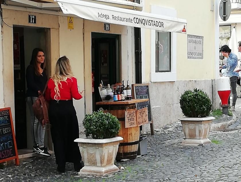 Lissabon-Strassenstand